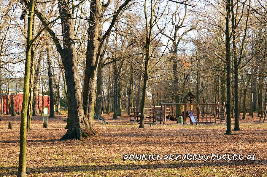 plac zabaw w Parku Strachowickim