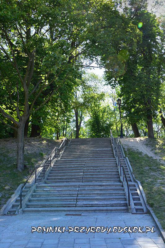 schody na Górę Zamkową w Chełmie