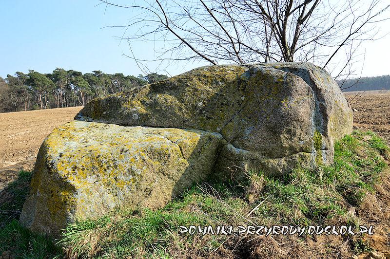 Jezierzyce - zbliżenie pomnikowego głazu