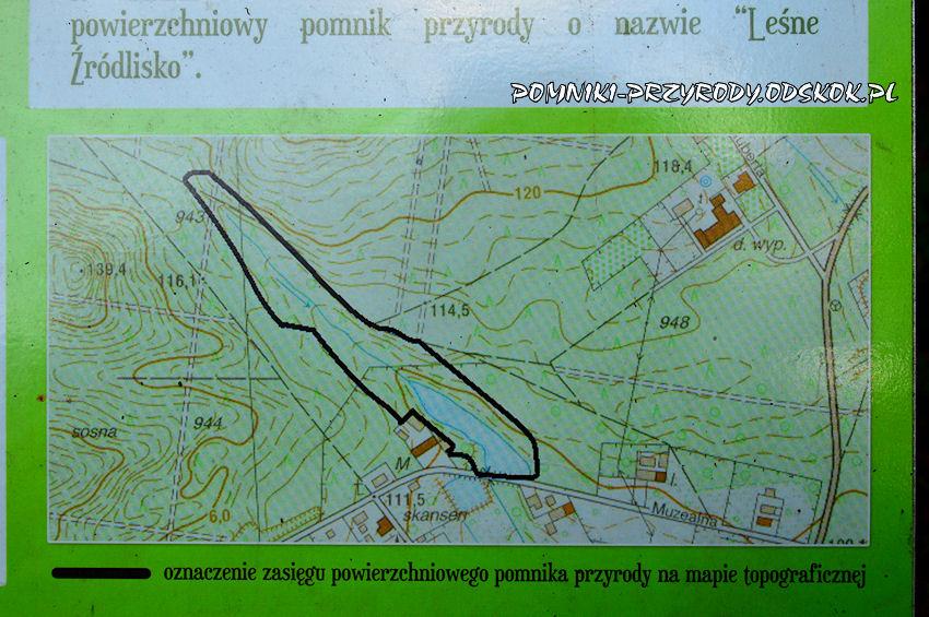 mapa zasięgu powierzchniowego pomnika przyrody