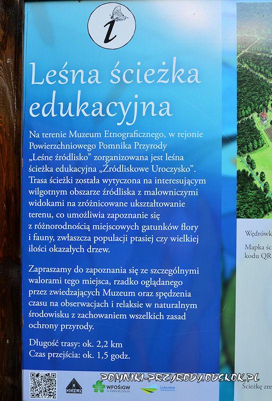 tablica leśna ścieżka edukacyjna w Ochli