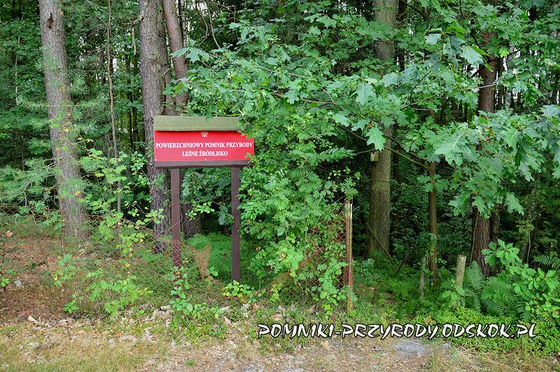 tablica przy Leśnym Źródlisku