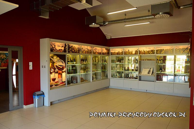 wnętrze Lubuskiego Centrum Winiarstwa w Zaborze