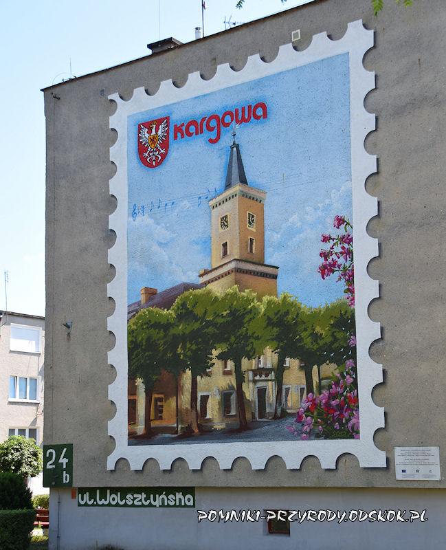 Kargowa - mural na bloku mieszkalnym