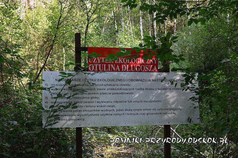 tablica - Użytek Ekologiczny Otulina Długosza