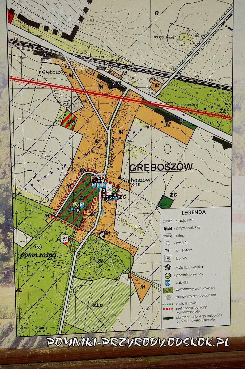 mapa Gręboszowa