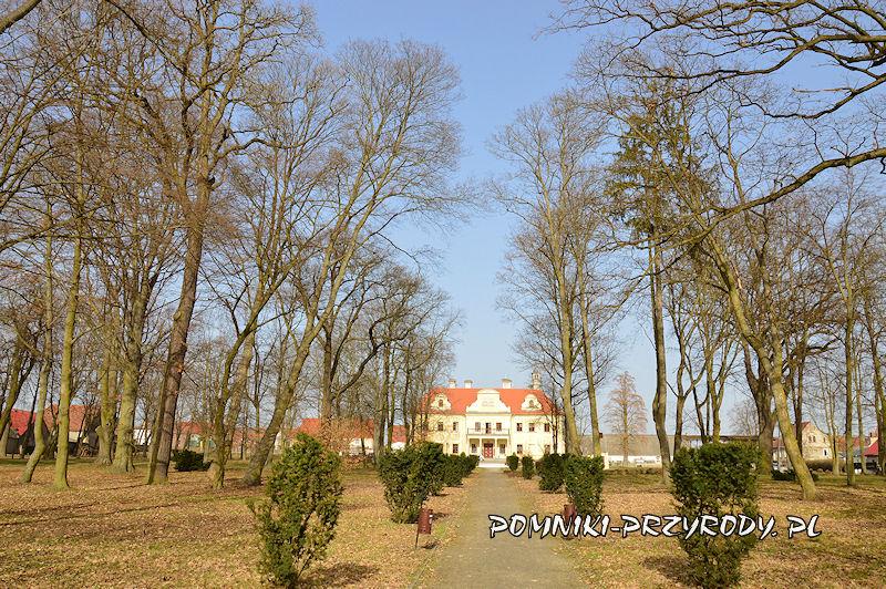 Gaworzyce - główna oś widokowa w parku