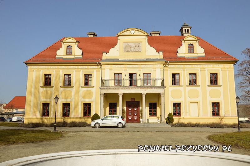 pałac w Gaworzycach - widok od strony parku