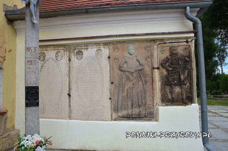 epitafia na murach kościoła w Przerzeczynie-Zdroju