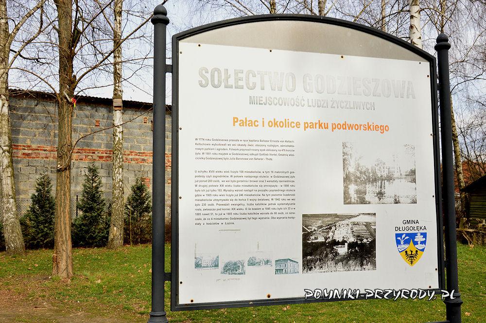 tablica w parku w Godzieszowej